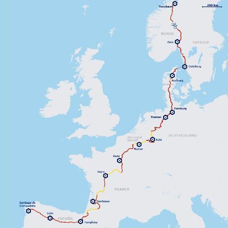 Jakobsweg Karte Deutschland.Jakobswege In Norddeutschland